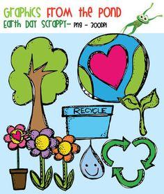 Earth Day Scrappy Clip Art - Free