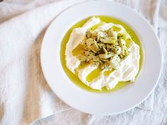 Labneh - Middle Eastern Yogurt Dip with Artichokes!