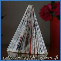 Make a nice Christmas decoration out of recycled magazines. Looks super easy and definitely will try it