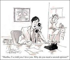 Don Orehek Cartoons. Second opinion. American Medical News, 1983.