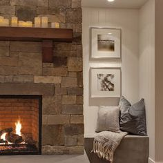 The style of this fireplace