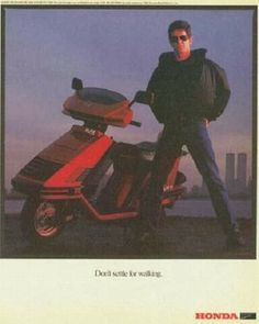 Classic Lou Reed Honda Magazine Ad From 1984...