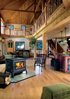 dream homes, timber homes, natural wood, mountain homes, dream houses, pole barns, barn homes, wood stoves, pole barn home