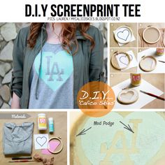 DIY Screenprint tee...pretty easy tutorial and with fairly common tools