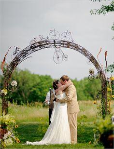 bicycle wedding alter