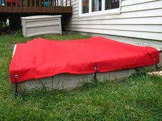 covered sandbox, diy sandbox cover, outdoor fabriccanva, sandbox cover diy, diy sandboxes, cousins, backyard, outdoor sandbox, canvases