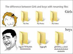 differ, funni stuff, girl, funny pictures, true, funni pictur, renam file, humor, boy