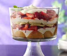 Sweet Breakfast Trifle Recipe ~ with Pancakes, Fruit Filling & Cream Cheese Filling... YUM!