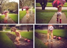 "Be Inspired: Mud Puddles. Lots of pics of inspirational photos centered around a ""mud puddle"" theme"