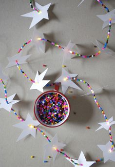DIY Led Star Garland