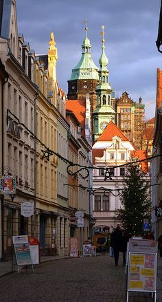 The historic town of Pirna in Saxony, Germany