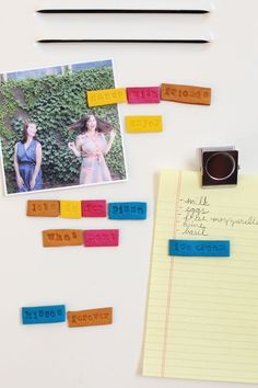 DIY: clay word magnets