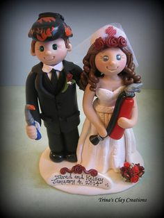 Wedding Cake Topper Custom Cake Topper by trinasclaycreations, $185.00