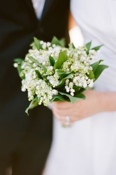 Lily of the Valley bridal bouquet