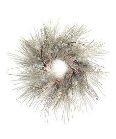 Green Frosted Pinecone Wreath