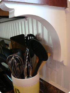 Beadboard backsplash for kitchen tutorial
