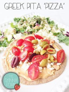 Greek Pita 'Pizza' — The Skinny Fork