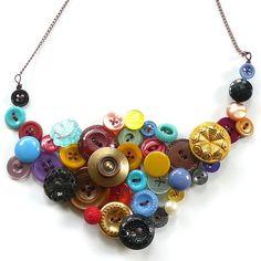 Button jewelry love it! must try! #ecrafty