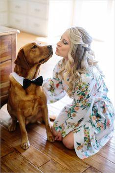 formal attire for your furry best friend on your wedding day #weddingideas #formaldog #weddingchicks http://www.weddingchicks.com/2014/03/11/newport-beach-glittery-pink-wedding/