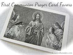 Better Than Eden: First Communion Prayer Card Favors