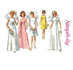 1960s Wedding Dress Pattern Simplicity 7479.