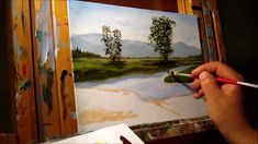 Green Meadows Demonstration - Basic Traditional Landscape Oil Painting T...