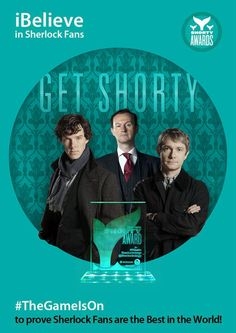 It's time for the 6th Annual Shorty Awards and we are again calling upon the people who really matter, you; the Sherlock fans. Last year we prove to the world yet again that the fans of this series are the most dedicated of fandoms out there by winning the Shorty Award for Fansite for a second year running. Can we make our very own Sign of Three and do it again for a third? justin bieber, fan site, award honor, benedict cumberbatchsherlock, shorti award, bieber fan