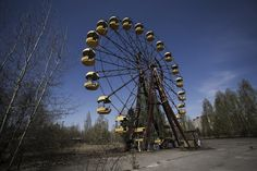 This carousel is located in a theme park in Pripyat, the abandoned town near the site of the Chernobyl nuclear disaster. For obvious reasons, namely radiation, it has not seen many, if any, visitors since the event.