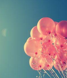 balloons #pink #sky #blue #shiny