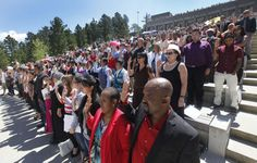 Nearly 200 become U.S. citizens at Mount #Rushmore! Happy Fourth of July! #USA