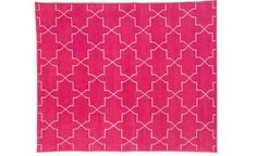 Madeline Weinrib hot pink rug makes my heart go thumpa thump thump!