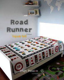 Patrón Gratuito - Road Runner Trapunto Edredón por Joanne