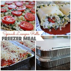 dinner, frezer meals, cook, freezer meals, food, freezer lasagna rolls, lasagna rolls freezer, spinach lasagna rolls, freezer meal recipes