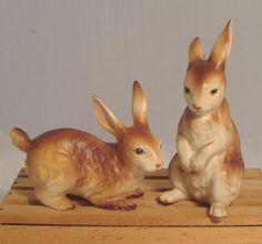 Vintage Rabbit Figurines via Timeless Treasures Ltd