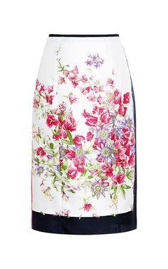 Floral-Print Silk Skirt by Nina Ricci Now Available on Moda Operandi