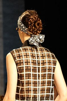 Tribal braids with a lady-like chignon