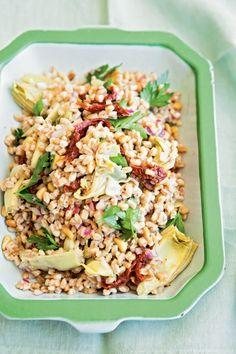 Farro Salad with Artichoke Hearts