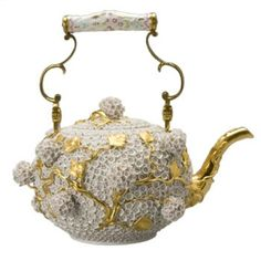 Meissen Snowball Teapot The history of porcelain manufacturing in Europe begins in Meissen, Germany near Dresden, the cradle of European porcelain.