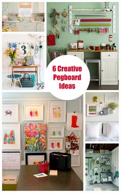6 Creative Pegboard Ideas to keep you Organized in every room.