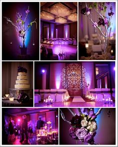 Purple wedding decor
