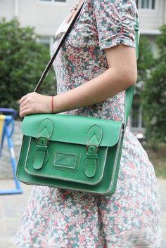 Cambridge Satchel ~~ Handmade Leather Satchel - Messenger Bag / Backpack