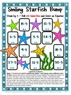 Division Games 33 Division Bump Games by Games 4 Learning $ This collection of printable division games contains 33 printable games with divisors of 1 -12.