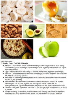 7 healthy foods that fill you up