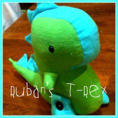 plush t-rex pattern