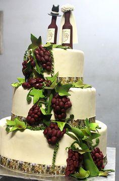 Grape Wine wedding cake