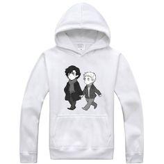 Sherlock Holmes cartoon logo hoodie sweatshirt