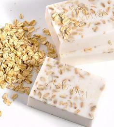 Oatmeal, Milk & Honey Bar Soap - Set of 2 | These two oatmeal milk and honey bars are packed with oats for... | Bar Soap