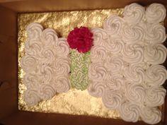 Wedding dress cupcake cake!