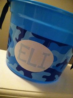 Personalized Camouflage Easter Basket for Boy by VintagebyNicole, $16.00