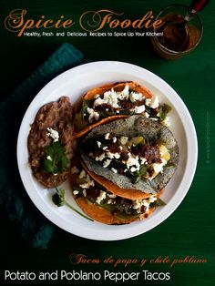Potato and Poblano Pepper Tacos | #tacos #tacotuesday #potato #poblanopeppers #mexican #vegetarian #vegan